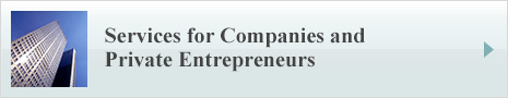 Services for Companies and Private Entrepreneurs